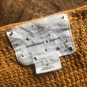 coincidence & chance Sweaters - Coincidence & Chance Gold Metallic Sweater